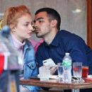 Sophie Turner out for lunch at Sant Ambroeus in NY