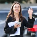 Cara Santana in Black – Out in Los Angeles