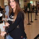 Gaby Espino at LMM airport in San Juan - 454 x 944