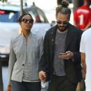 Zoe Saldana Out and About In Vancouver