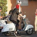 Barbara Palvin with Charli Howard and Sophia Hadjipanteli – Out in Rome