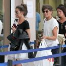 Louis Tomlinson and girlfriend, Eleanor Calder at Nice, France Airport (July 10) - 252 x 399