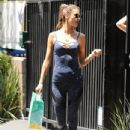 Alessandra Ambrosio is spotted running her daily errands in Santa Monica, California on May 26, 2016