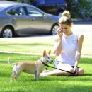 Ashley Greene – Walking her dog in Beverly Hills
