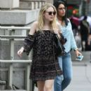 Actress Dakota Fanning is spotted out for a stroll in New York City, New York on July 27, 2015 - 409 x 600