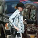 Emma Stone in Grey Tights out in New York City - 454 x 454