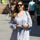 Kelly Brook – Arriving at Global Radio Leicester Square in London