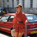 Megan Barton-Hanson in Mini Dress – Out in London - 454 x 677