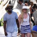 Lindsey Vonn and P. K. Subban vacationing in Capri, Italy on July 1, 2018