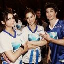 Nina Dobrev: Celebrity Beach Bowl 2013 with Ian Somerhalder