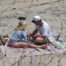 Hilary Duff in Pink Bikini on the Beach in Malibu - 454 x 319