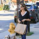 Selma Blair with her dog in Los Angeles - 454 x 636