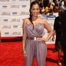 Lala Anthony arrives at the 2012 BET Awards at The Shrine Auditorium on July 1, 2012 in Los Angeles - 386 x 594