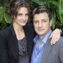 Stana Katic and Nathan Fillion