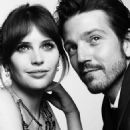 Felicity Jones and Diego Luna at the 74th Golden Globes (2017) - 454 x 567