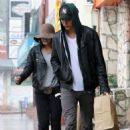 Vanessa Hudgens and new boyfriend, Austin Butler grabbed a meal to go yesterday, October 5, in Studio City. The pair was seen rushing to the car to avoid the rain
