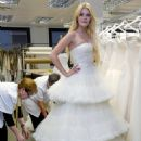 Mischa Barton Poses In Wedding Dresses To Promote The Rosa Clara 2011 Collection Of Wedding Dresses That Will Be Presented During Bridal Week In Barcelona, Spain On May 17, 2010.