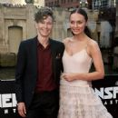 Laura Haddock and her hard-working stunt double, Jessica Harbeck (L)