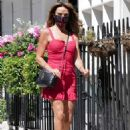 Lizzie Cundy in Mini Dress – Out in London - 454 x 628