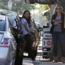 Mila Kunis – Outside Black Market Liquor Bar in Studio City