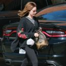 Ashley Tisdale in Black Leggings Out in Los Angeles - 454 x 665