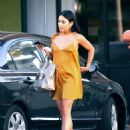 Vanessa Hudgens in Mini Dress Out in Los Angeles - 454 x 593