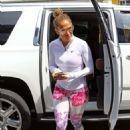 Jennifer Lopez in Leggings – Heads to the gym in Beverly Hills