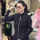 Kyle Richards is spotted outside her clothing store Kyle by Alene Too in Beverly Hills, California on March 31, 2016. Kyle chatted it up with fans before heading out for the day - 454 x 590