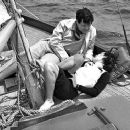 Dolores del Rio and Orson Welles  sail to Catalina Island off the coast of California circa 1940 - 454 x 378