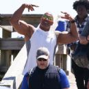 Dwayne Johnson- March 28, 2016-The Set of Baywatch - 446 x 600
