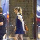 Margot Robbie in Mini Dress Leaves a Restaurant in London