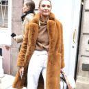 Candice Swanepoel – Leaving Ralph Lauren Show in New York - 454 x 702