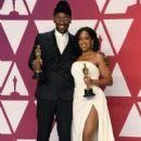 Mahershala Ali and Regina King At The 91st Annual Academy Awards - Press Room - 400 x 600