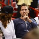 Juan Pablo Galavis attends a Miami Heat basketball game with friends on December 17, 2014 in Miami, Florida