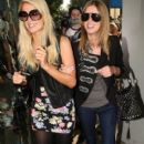 Paris And Nicky Hilton Out Shopping At Kitson