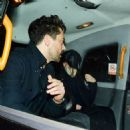 Lily James – Hides from the cameras with Dominic Cooper in London