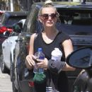 Ashlee Simpson – Leaves Tracy Anderson Gym in LA