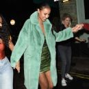 Maya Jama – Leaves S*** Fish restaurant in Mayfair - 454 x 634