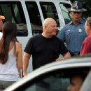 Michael Chiklis arrives at the Hatch Shell along the Charles River in Boston this evening for a dress rehearsal in preparation for tomorrow nights Fourth of July celebration - 454 x 352