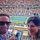 Perrey Reeves and Aaron Fox (tennis Coach) - 454 x 452
