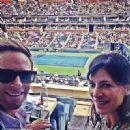Perrey Reeves and Aaron Fox (tennis Coach)