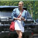 Paula Patton in White Mini Dress out in Beverly Hills - 454 x 681