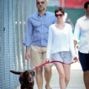 Anne Hathaway: walking her dog in NYC