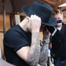 Justin Bieber is seen leaving Il Pastaio in Beverly Hills, California after enjoying lunch on May 21, 2015