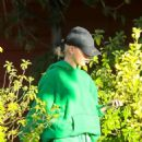 Hailey Bieber – Arriving at a recording studio to meet Justin Bieber in Los Angeles