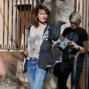Milla Jovovich out in Barcelona - 454 x 683