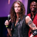Steven Tyler appears onstage during Steven Tyler's Third Annual GRAMMY Awards Viewing Party  at Raleigh Studios on January 26, 2020 in Los Angeles, CA - 403 x 600