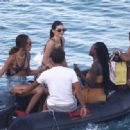 Kendall Jenner – On a boat in Mykonos
