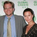 Global Green president Matt Petersen (L) and actress Rhona Mitra attend the 12th annual Green Cross Millennium Awards at the Fairmont Miramar Hotel on June 14, 2008 in Santa Monica, California.