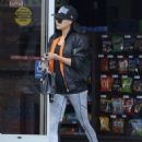 Naya Rivera at a Gas Station in Los Angeles
